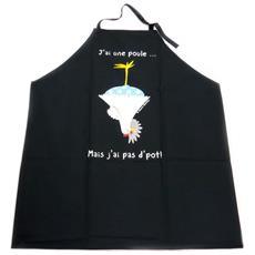 creatore grembiule gallina di piatto nero - [ p2054]