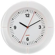 Orologio Da Parete I-clock Bianco, Caratterizzato Da Una Preziosa Cornice In Materiale Plastico Pregiato Bicolore, È Realizzato In Vetro Con Cassa Su Sfondo Bianco E Lancette Nere - 28950011