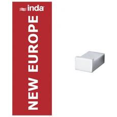 New Europe Appendiabiti 4x5x, Cromo, A49200