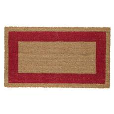 zerbino cocco c / fondo in vinile 45x80cm rosso velcoc