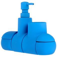 Organizer Modulare Da Bagno Submarino Colore Azzurro