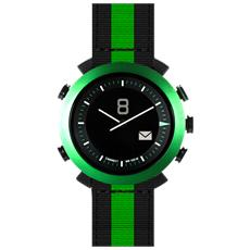 Smartwatch Classic Nylon + Silicone Impermeabile Bluetooth compatibile con Android e iOS - Nero / Verde