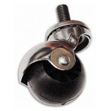 Ruota in Nylon con Perno Girevole MDF Ø 35 mm Filetto 8 mm Portata 12 Kg Cebora