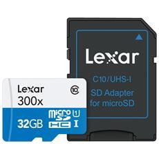 MicroSDHC da 32 GB Classe 10 + Adattatore SD