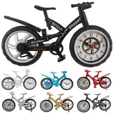 Orologio Sveglia Tavolo Forma Bicicletta Bike Modello Analogica Allarme Colorata Design Casa Ufficio Fashion Colore Casuale