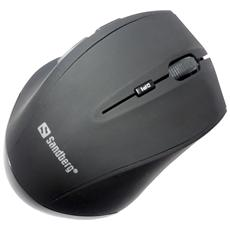 The Sandberg Wireless Wireless Mouse Pro gives you full flexibility when working with your computer. The mouse is wireless, avoiding the need for an irritating cable. Installation is fully automatic with no need for software or device pairing. The tiny USB receiver simply slots into a USB port, enab