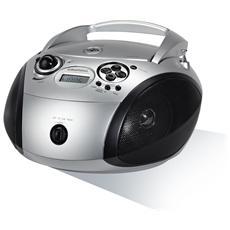 Radio Portatile con Lettore CD USB GDP6300 - Nero / Argento