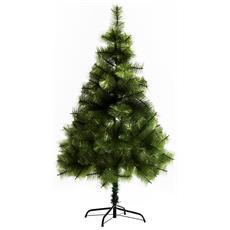 Albero Di Natale Artificiale Folto Con 229 Rami 150cm Verde