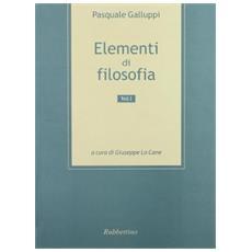 Elementi di filosofia. Vol. 1