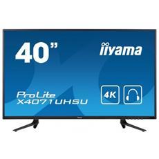 """Monitor 39.5"""" LED MVA ProLite X4071UHSU-B1 3840x2160 4K Ultra HD Tempo di Risposta 3 ms"""