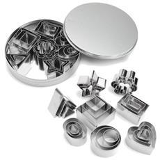 Set 24 Mini Tagliapasta Forme Geometriche Assortite