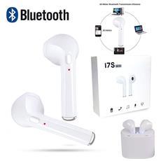 Madprice - Auricolari Bluetooth In Ear Doppi Per Ios Android I7s Cuffie Wireless Con Basetta Ricaricabile