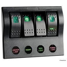 Pannello elettrico PCP Compact 4 interruttori