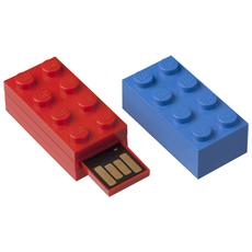 PNY - Chiavetta USB 16 GB Mattoncino LEGO Interfaccia USB 2.0 Colore Rosso