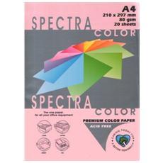 Carta Colorata Rosa A4 80 Gr 20 Fogli