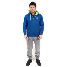Tuta Uomo Stretch Frenc Fleece Azzurro Grigio L