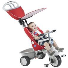 Triciclo Per Bambini 4 In 1 Rosso Grigio Recliner