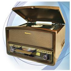 HIF-1937TUMPK, Legno, AC, MP3, FM, MW, Analogico, Blu