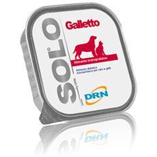 Cibo per Cani e Gatti Solo Galletto 300 gr x 6