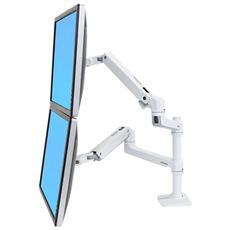 LX Series 45-492-216, 75 x 75,100 x 100 mm, Bianco, 0 - 330 mm, Alluminio, -75 - 75°, 0 - 360°