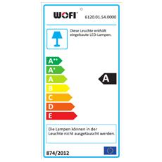 ROMA Supporto flessibile 20W LED Cromo, Nichel A lampada a sospensione