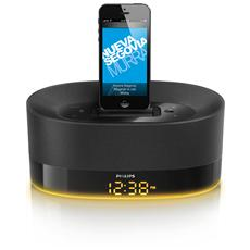 Sistema Docking con altoparlanti DS1600/12 potenza 8 Watt porta USB Compatibile Apple colore Nero