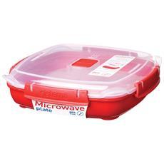 Sistema Contenitore Per Cuocere A Microonde Quadrato 0,80 Litri