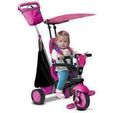 Triciclo Per Bambini 4 In 1 Rosa Spirit