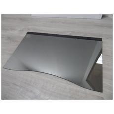 Coperchio per Piano Cottura in Vetro da 75 cm Colore Nero Specchio