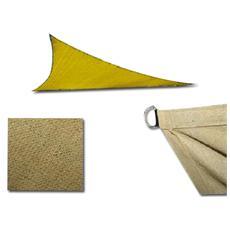 Telo gazebo vela ecru' Mt 5X5X5 triangolare