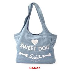 Borsa trasportino per Cani e Gatti Sweet Dog demin (36x20x23h cm)