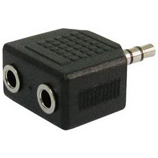 Splitter Adattatore Da Spina Jack 3,5 Stereo A 2 Prese Jack 3,5 Ep-305