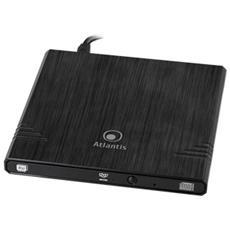 Masterizzatore DVD-DL Ultra Slim Interfaccia USB 2.0 Colore Nero