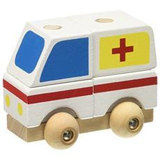 Ambulanza. Mezzi in legno smonta e rimonta. Ediz. a colori