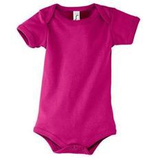 Body A Manica Corta In Cotone Neonati / bambini (12/18 Mesi) (fucsia)