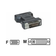 Adaptateurs DVI-I vers HD15 (VGA) DVI-I Male / HD15 Femelle DVI-I VGA (D-Sub) Nero cavo di interfaccia e adattatore