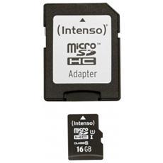 MicroSDHC UHS-I da 16 GB Premium Class 10
