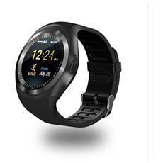 Smartwatch Y1 Slot Scheda Sim E Bluetooth Fotocamera Orologio Telefono Pedometro Calorie Nero
