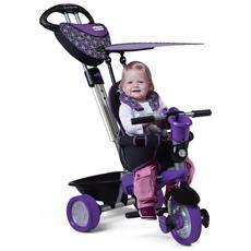 Triciclo Per Bambini 4 In 1 Viola Nero Dream