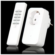 AC-1000R, RF Wireless, Bianco, Pulsanti, 30m, 0,433 GHz, Litio