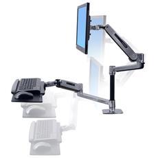 Sistema di Supporto da Scrivania per Monitor e Tastiera Argento 45-405-026