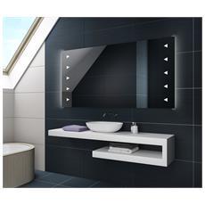 Controluce Led Specchio 100x60cm Su Misura Illuminazione Sala Da Bagno L07