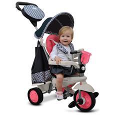 Triciclo Per Bambini 4 In 1 Rosa Swing