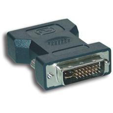 Adapter DVI-I to HD15 DVI-I VGA (D-Sub) Nero cavo di interfaccia e adattatore