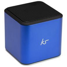 Cube Wireless, Con cavo e senza cavo, Batteria, USB, Bluetooth / 3.5 mm, Universale, Cubo, Blu