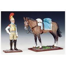 8731360 Arm. franc. sold. accanto Al Suo Cavall Modellino