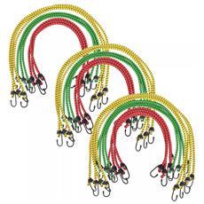 Corde Elastiche 30 Pz 60/80/100 Cm Rosso Giallo Verde