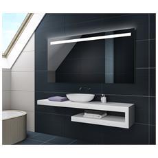 Controluce Led Specchio 120x50cm Su Misura Illuminazione Sala Da Bagno L12