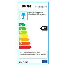 FULTON Supporto flessibile 6W LED Cromo A+ lampada a sospensione
