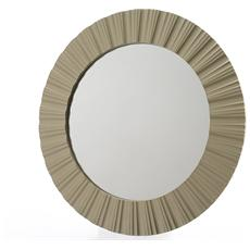 Specchio in Plastica Diametro 50 cm Oro